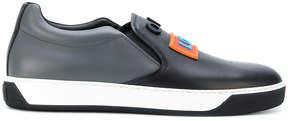 Fendi slip-on sneakers with raised appliqués
