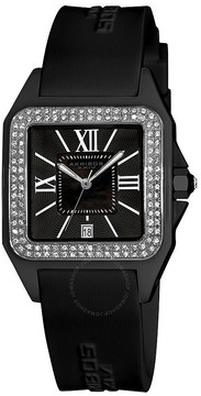 Akribos XXIV Akribos Black Mother of Pearl Dial Black Ceramic Ladies Watch
