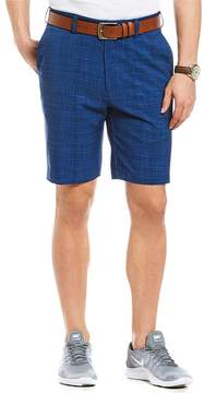 Roundtree & Yorke Flat-Front Textured Performance Shorts