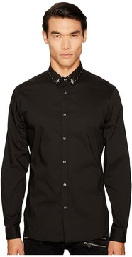 Just Cavalli Studded Collar Button Down Men's Clothing