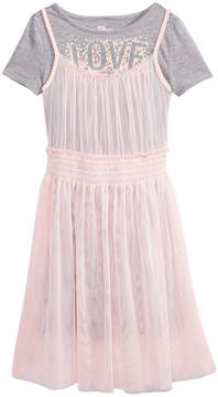 Epic Threads Love Mesh T-Shirt Dress, Big Girls, Created for Macy's