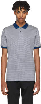 Paul Smith Blue and White Checkered Regular-Fit Polo