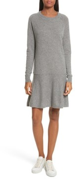 Autumn Cashmere Women's Cashmere Drop Waist Sweater Dress