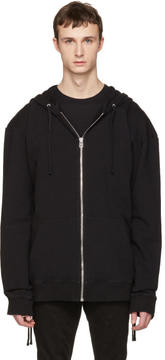Faith Connexion Black Laced Zip-Up Hoodie