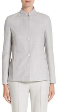 Akris Stretch Wool & Silk Bicolor Reversible Jacket