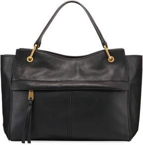 Cole Haan Kathlyn Leather Zip-Top Satchel Bag, Black