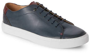 English Laundry Navy Tudor Leather Low Top Sneakers