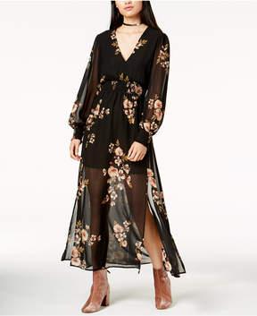 Astr Leslie Sheer Maxi Dress