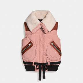 Coach New YorkCoach Puffer Vest With Shearling