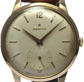 Zenith 18K Pink Gold & Leather Manual 37mm Men