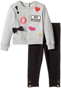 Kate Spade Kids - Patched Sweatshirt Set