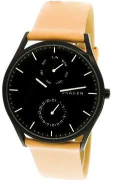 Skagen Men's SKW6265 Holst Leather Watch, 39mm