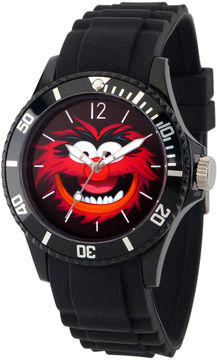 Disney The Muppets Mens Black Strap Watch-Wds000361