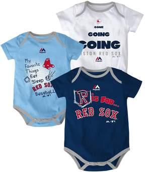 Majestic Baby Boston Red Sox Baseball Baby 3-Piece Bodysuit Set
