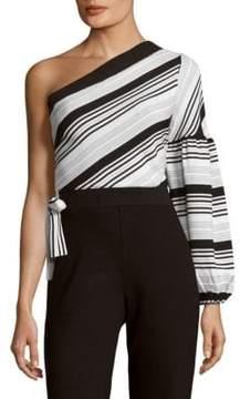 Lucca Couture Asymmetrical Cotton Top