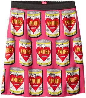 Dolce & Gabbana Charmeuse Love Skirt Girl's Skirt