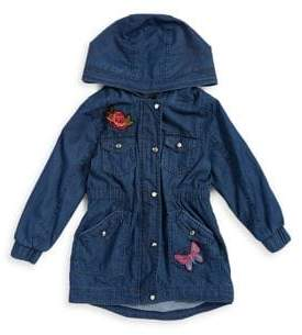 Urban Republic Girl's Patch Chambray Jacket