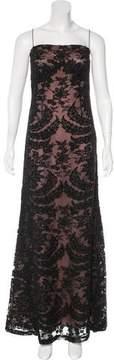 Carmen Marc Valvo Ornate Evening Dress