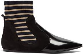 Acne Studios Amalee striped-insert leather ankle boots