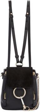 Chloé Black Mini Faye Backpack
