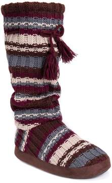 Muk Luks Women's Gloria Knit Tall Boot Slippers