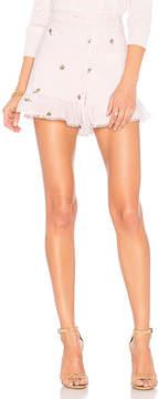 J.o.a. Embroidered Ruffle Shorts