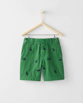 Hanna Andersson Chino Shorts In Embroidered Twill