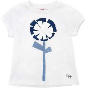 Il Gufo Flower Print Cotton Jersey T-Shirt
