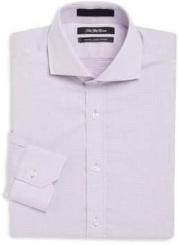 Saks Fifth Avenue Regular-Fit Pindot Cotton Dress Shirt