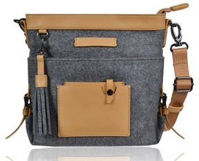 Sherpani Luna Waxed Cotton Canvas Crossbody Bag - Grey