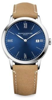 Baume & Mercier My Classima 10385 Stainless Steel & Alligator-Embossed Leather Strap Watch