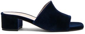 Maryam Nassir Zadeh Velvet Sophie Slides in Blue.