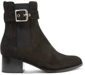 Rag & Bone Wilson Buckled Suede Ankle Boots - Black