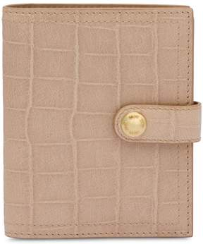 Miu Miu embossed grid logo wallet