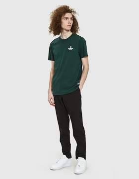 Reigning Champ Logo Ringspun Jersey Tee in Court Green/White