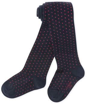 Petit Bateau Girl's polka dot tights