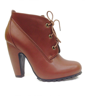 Bamboo Chestnut Dual-Closure Mozza Bootie