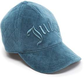 Juicy Couture Quilted Velour Baseball Hat