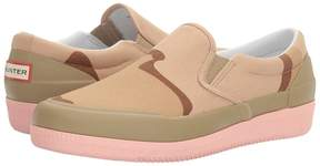 Hunter Canvas Plimsoll Desert Camo Women's Shoes