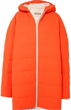 Awake Oversized Quilted Crepe Coat - Bright orange