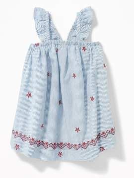 Old Navy July Fourth Ruffle-Trim Dress for Baby