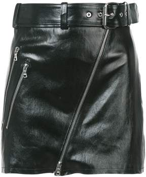 Amiri Moto leather mini skirt