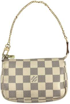Louis Vuitton Pochette Accessoire cloth clutch bag - WHITE - STYLE