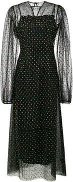 Emilia Wickstead Camelita sheer lace polka dot dress