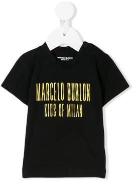 Marcelo Burlon County of Milan Kids logo print T-shirt