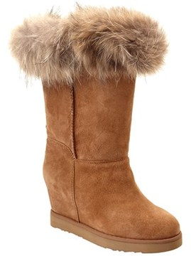 Australia Luxe Collective Women's Luxe Foxy Suede Wedge Boot.
