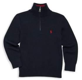 Ralph Lauren Little Boy's and Boy's Cotton Half-Zip Sweater