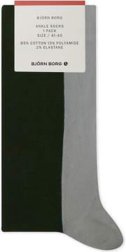 Bjorn Borg Two-tone cotton-blend socks