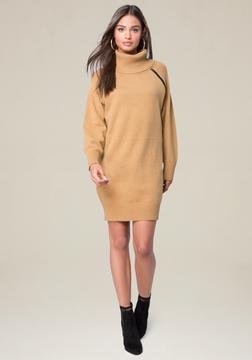 Bebe Zip Detail Sweater Dress