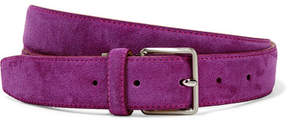 Acne Studios Aryx Suede Belt - Purple